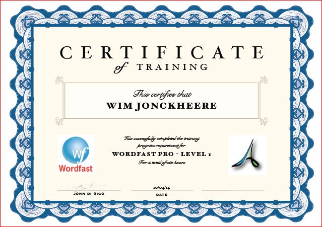 Wordfast training program